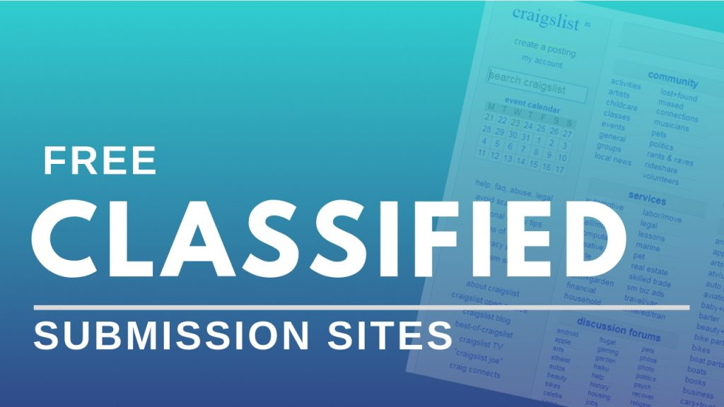 Top 500 High DA Classifieds Sites List 2021 – Free Ads Posting sites – My  Tech Ranker